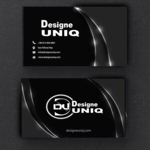 کارت ویزیت سیاه و سفید لایه باز با طراحی خاص و منحصر به فرد