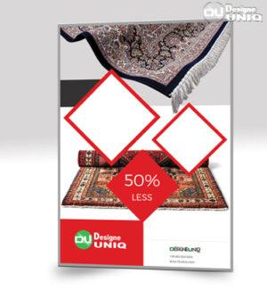 تراکت تبلیغاتی قالیشویی | لایه باز psd | فرش فروش