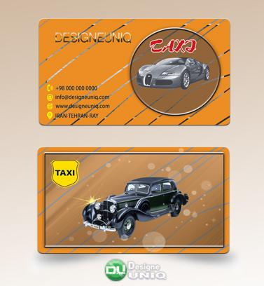 دانلود کارت ویزیت لایه باز تاکسی سرویس - آژانس