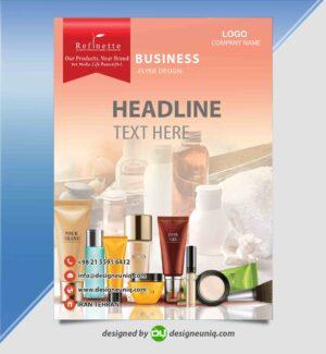 تراکت تبلیغاتی لوازم آرایشی بهداشتی خاص