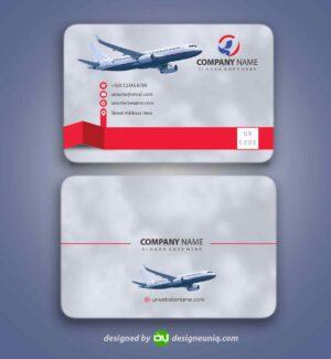 کارت ویزیت آژانس خدمات مسافرتی