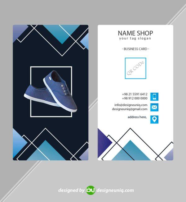کارت ویزیت فروشگاه کفش و کتونی کفش قروشی