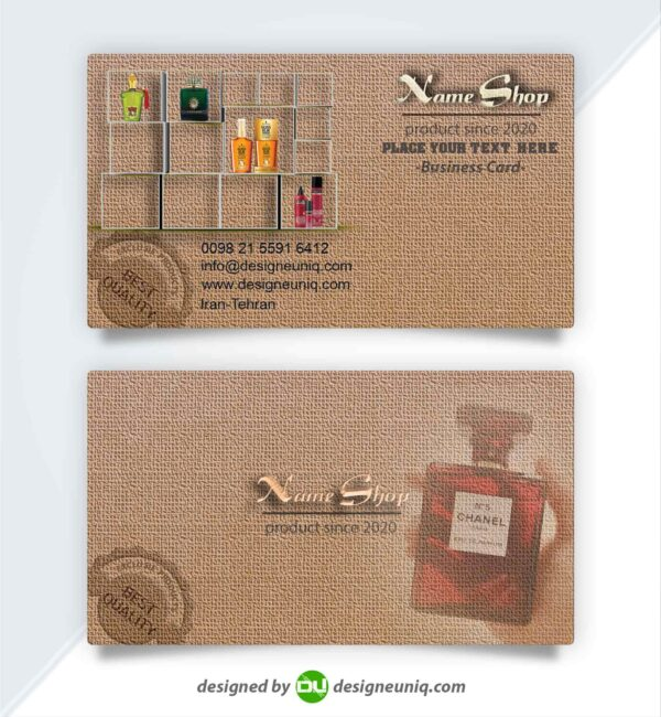 دانلود طرح کارت ویزیت لوازم آرایشی و بهداشتی لایه باز psd