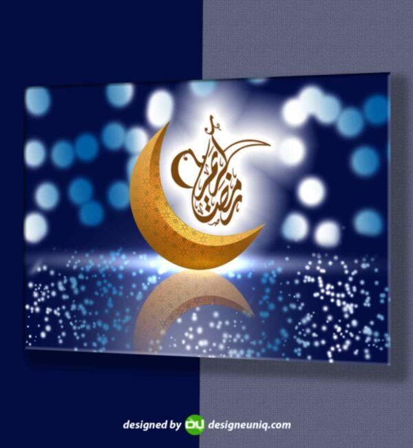 پوستر تبلیغاتی لایه باز ماه مبارک رمضان