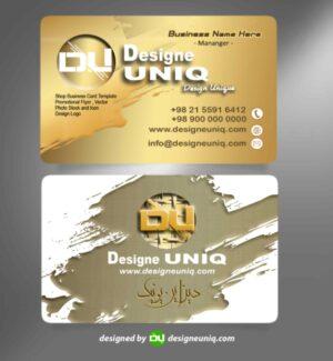 کارت ویزیت خاص لایه باز business card psd