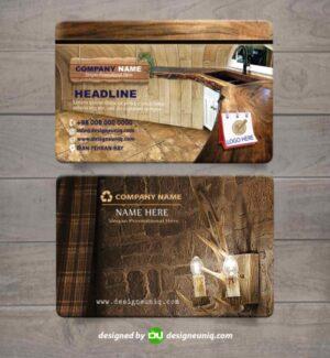 کارت ویزیت تزئینات داخلی ساختمان صنایع چوب و دکوراسیون