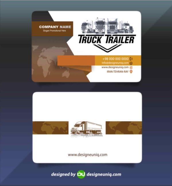 کارت ویزیت نمایشگاه کامیون و شرکت حمل و نقل