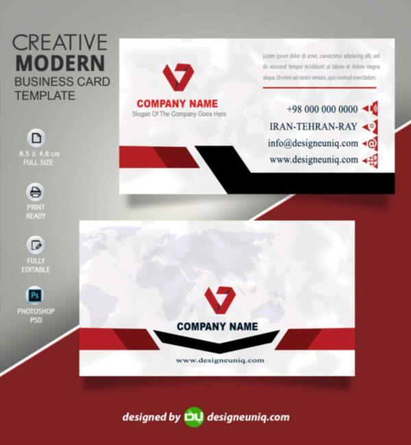 کارت ویزیت لایه باز شرکتی و بیزینس