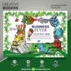 تراکت تبلیغاتی آموزشگاه نقاشی و مهد کودک