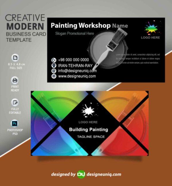 کارت ویزیت نقاشی و تزئینات ساختمان psd