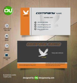 قالب کارت ویزیت بیزینس شرکتی فروشگاهی لایه باز psd