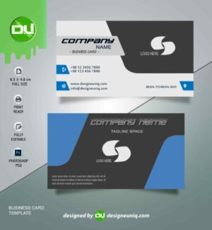 کارت ویزیت شرکتی با طراحی خاص لایه باز