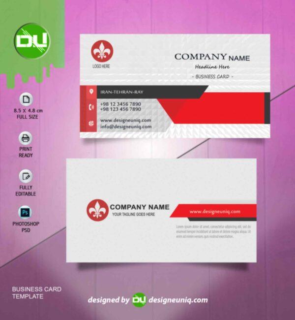 کارت ویزیت با طراحی خاص و کاملا لایه باز | psd