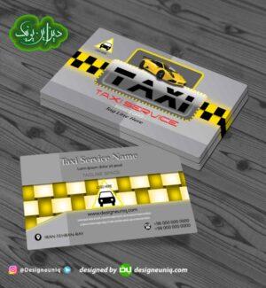 کارت ویزیت تاکسی تلفنی و آژانس بانوان و تاکسی فرودگاه لایه باز psd