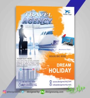 تراکت تبلیغاتی آژانس مسافرتی هواپیمایی و دفاتر خدماتی مسافرتی و تورهای گردشگری