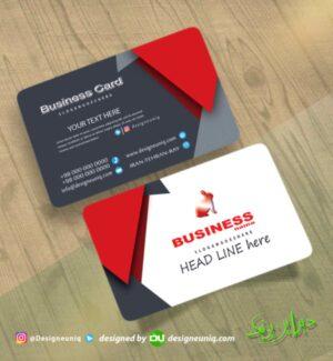 کارت ویزیت لایه باز خاص قرمز سفید مشکی رنگ مناسب تمام مشاغل نمونه طراحی کارت ویزیت خاص بیزینس