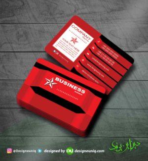 کارت ویزیت خلاقانه خاص قرمز مشکی لایه باز مناسب تمام مشاغل کارت ویزیت الکتریکی خدمات برقی خودرو