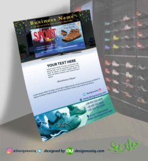 دانلود طرح لایه باز تراکت تبلیغاتی فروشگاه کفش و کتونی اسپرت psd