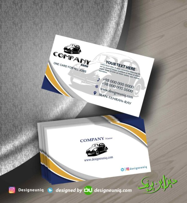 کارت ویزیت تاکسی سرویس و آژانس و نمایشگاه اتومبیل و مکانیکی و دیگر مشاغل psd لایه باز