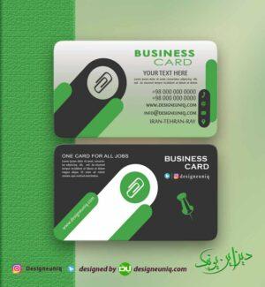 دانلود رایگان کارت ویزیت فروشگاه لوازم التحریر و ملزمات اداری لایه باز فرمت psd