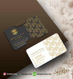 کارت ویزیت طلا کارت خاص قابل ویرایش برای مشاور املاک ، کاشی و سرامیک ، طلا فروشی لایه باز psd