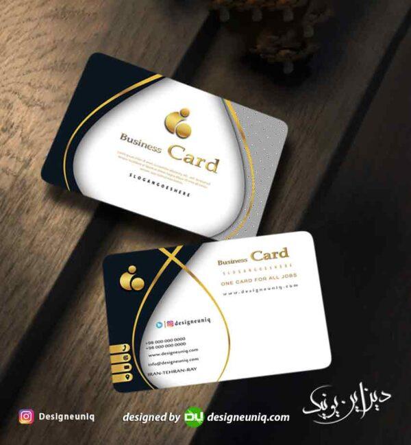 کارت ویزیت لاکچری و خاص مناسب تمام مشاغل ، آرایشگاه زنانه ، طلا فروشی و ... لایه باز psd