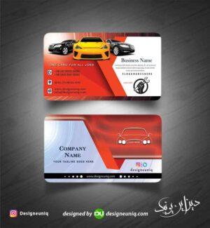 نمونه کارت ویزیت تعمیرگاه خودرو و مکانیکی و نمایشگاه و اتو گالری اتومبیل لایه باز psd