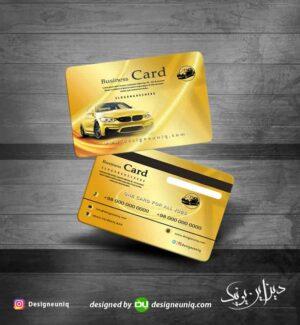 کارت ویزیت اتو گالری و آژانس با طراحی خاص مناسب تاکسی سرویس و نمایشگاه اتومبیل و ... لایه باز psd