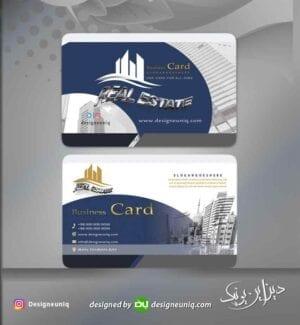 کارت ویزیت خاص مشاور و مشاورین املاک و انبوه سازی مسکن و فروش آپارتمان لایه باز فرمت psd